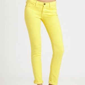 Current/Elliott Jeans The Rolled Skinny Yellow